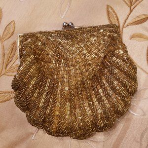Gold Beaded Evening/Formal Bag